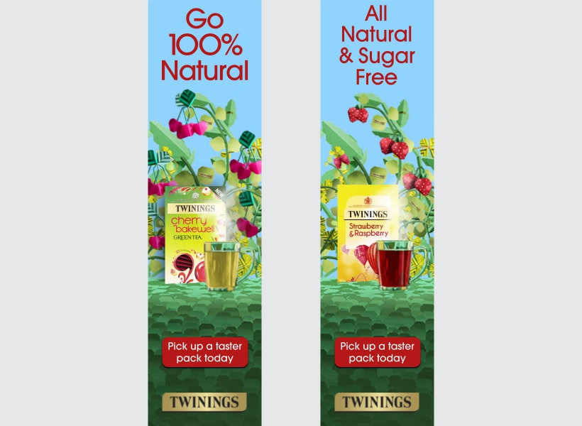 Twinings banners