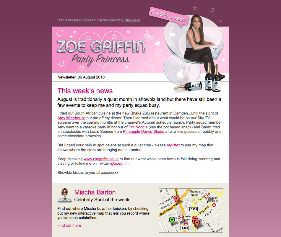 Zoe Griffin e-newsletter