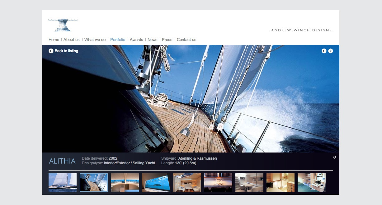 Andrew Winch Designs project page