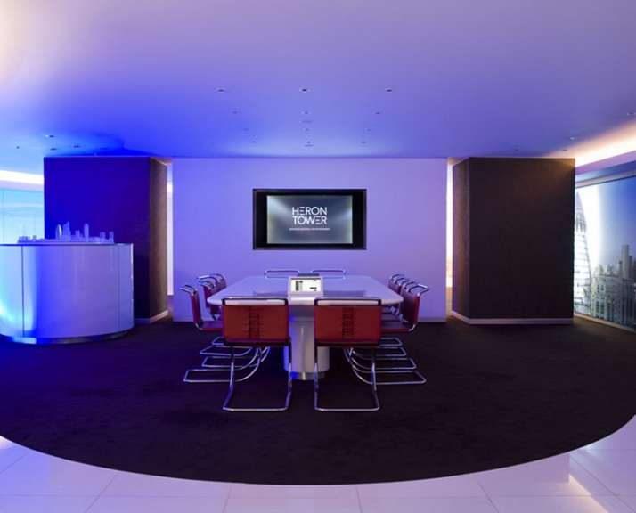 Heron Tower media suite presentation