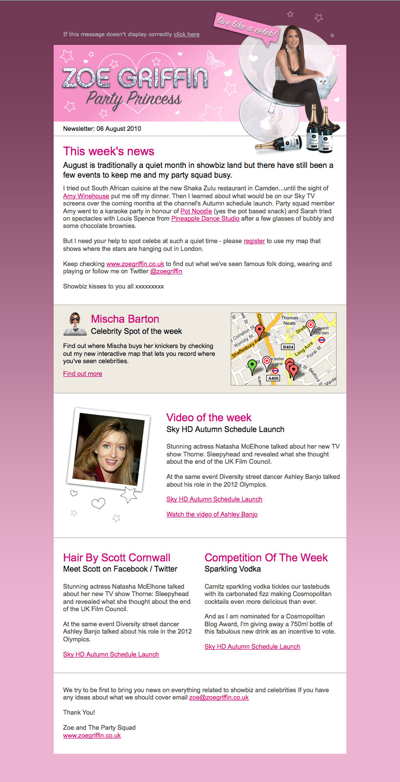 ipap celebrity spotting website zoe griffin email